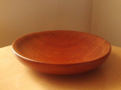 Vintage Wooden Shallow Display Bowl Roughly 9 1/2
