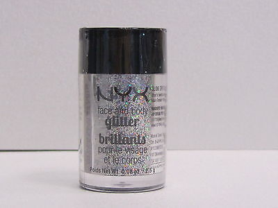 Nyx Glitter - NYX Face and Body Glitter color GLI06 Crystal 0.08 oz Brand New With Sealed
