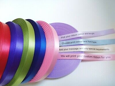 15mm HIGH QUALITY PERSONALISED RIBBON BIRTHDAY, XMAS, EASTER, CHRISTENING & MORE ()