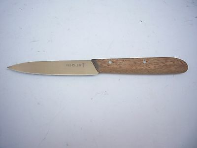FISCHER by VICTORINOX SWISS ARMY KNIFE VINTAGE PARING KNIFE NEW OLD STOCK WOOD