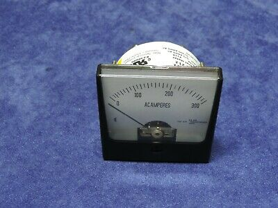 Rish Vista 212 12g401 Analog Ac Current Panel Meter 0-300 Amp Ac