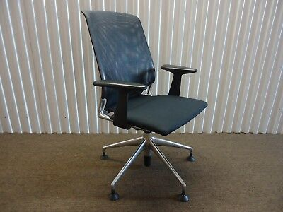 Vitra Meda Swivel Guest Chair With Mesh Backrest Design By Alberto Meda 1996