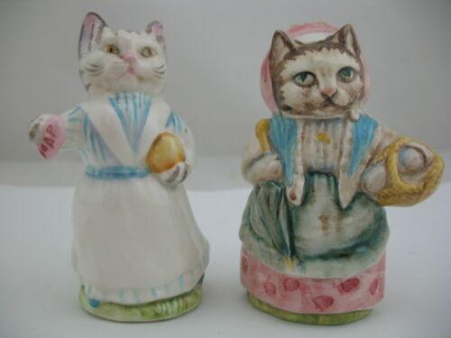 Beswick Beatrix Potter Figurine:Cousin Ribby BP-3a, Tabitha Twitchett BP-3b, cat