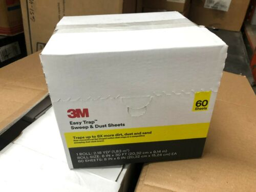 "3M 59152W Easy Trap Sweep & Dust Sheets 60ct 8""x6"" mop dirt sweep floor clean"