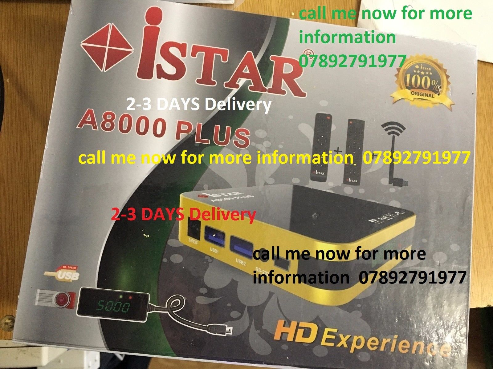 istar korea A8000 Plus With 6 Months Free Online Tv 3000 Channels no