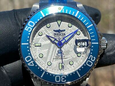 Invicta (26339) Grand Diver Automatic Meteorite Dial Stainless Bracelet Watch