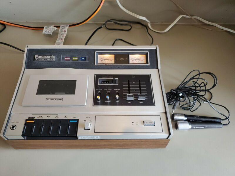 Vintage Panasonic Cassette Deck Player / Recorder - RS-263US W/ 2 Microphones.