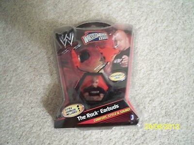BRAND NEW! WORLD WRESTLING ENTERTAINMENT: THE ROCK EARBUDS! for sale  Fredonia
