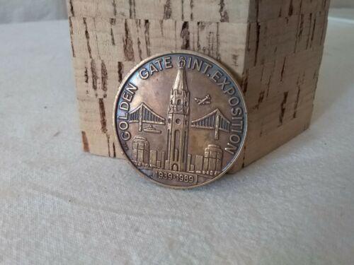 "1939 Golden Gate International Exposition Coin Club 1 1/2 "" Token"