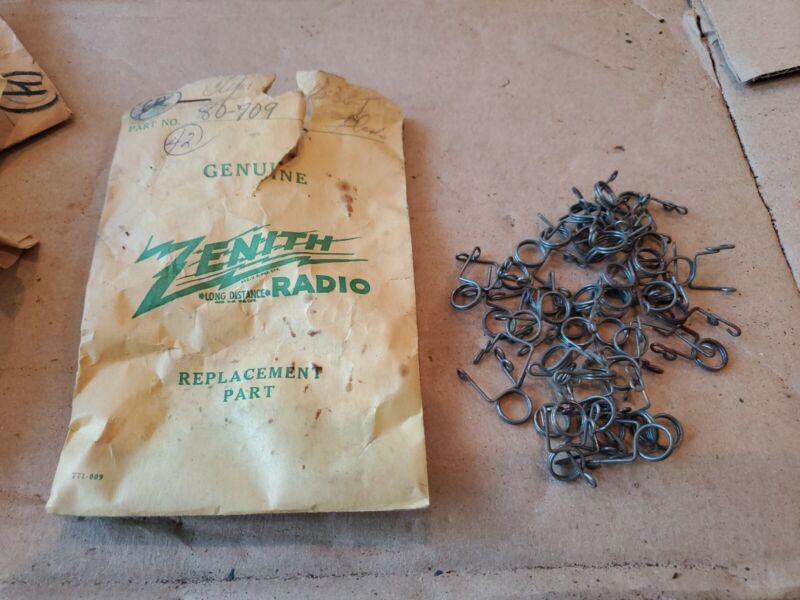 NOS Vintage Zenith Tube Radio parts new old stock CLIPS 80-709