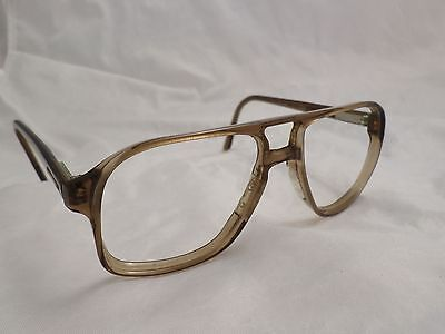 STETSON Arroware vintage brown made USA aviator sunglass eyeglass frames