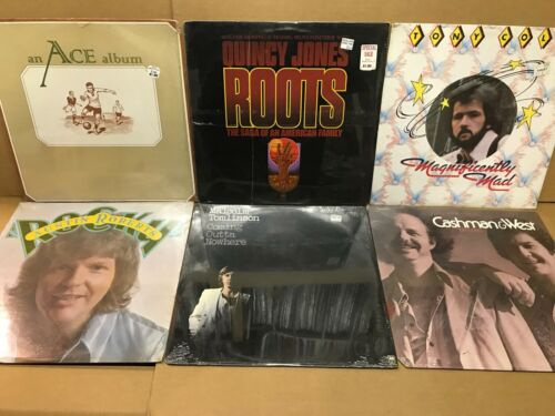 6 SEALED MINT VINYL LP RECORDS - 70s & 80s ROCK - UNOPENED NEW OLD STOCK - LOT