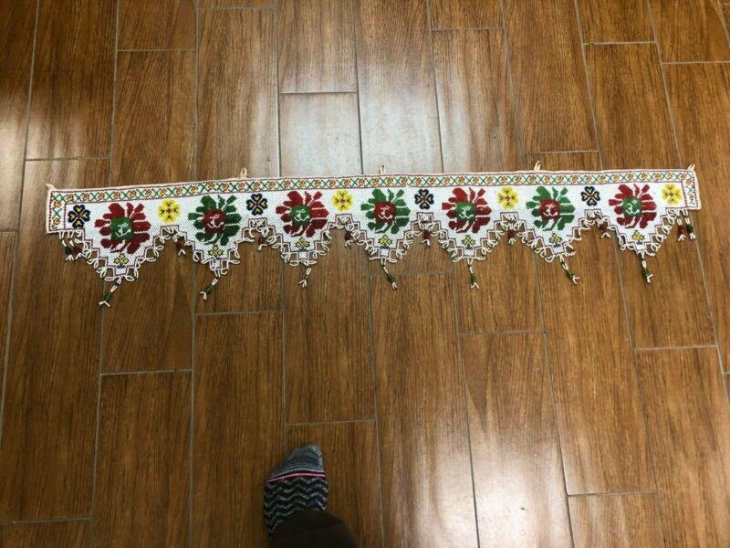 """Antique Ethnic Bead Door Wall Hanging (Toran) 46"""" Long"""