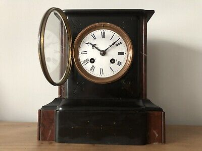 Antique French Marble Mantle Clock 1894 Original Pendulum. Brocot Escapement Vgc