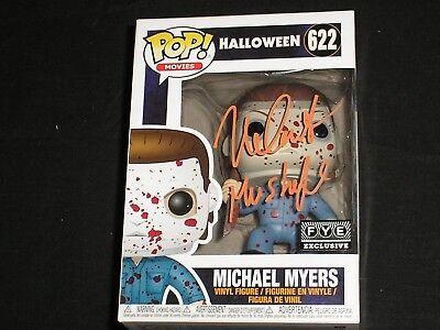 NICK CASTLE Signed Michael Myers FYE BLOODY FUNKO POP Figure HALLOWEEN THE - Castle Halloween