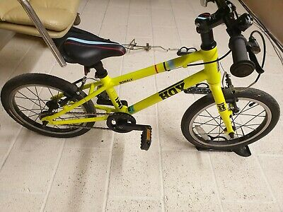 "kids bike hoy Bonaly 16"" in yellow used"