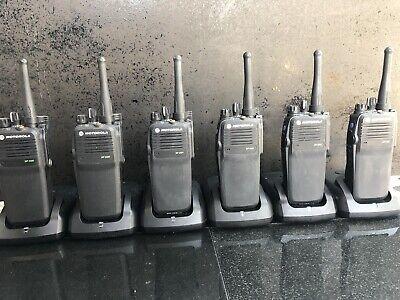 6 x Motorola DP3400 (UHF) 2/way Digital Radios & 6 x IMPRES Desktop Chargers
