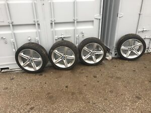 BMW rims and Continental snow tires