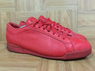 Vintage Nike 1980's Red Leather Fashion Sneakers American Sport Classics Sz 9