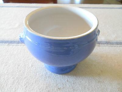 Portuguese Blue Lion Head  Handles Soup Bowl