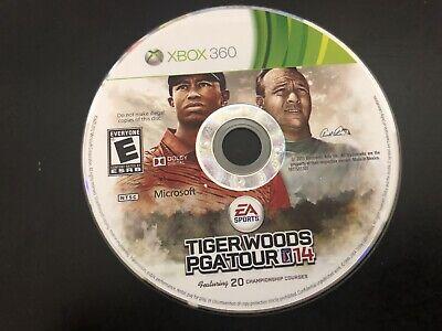 Tiger Woods PGA Tour 14 (Microsoft Xbox 360, 2013) Tested! Loose Disc