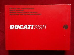 DUCATI 2005 749R ORIGINAL OWNERS MANUAL ~MINT~