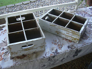 two rustic old drink bottle wooden boxes Victoria Point Redland Area Preview