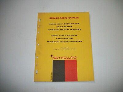 New Holland 202 212s Manure Spreader Parts Catalog