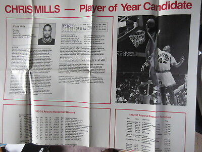 CHRIS MILLS ARIZONA PLAY OF THE YEAR CANDIDATE POSTER MARKETING PIECE - RARE