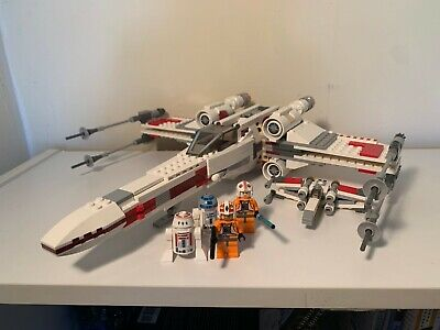 Lego Star Wars Lot X-Wing 9493 100% complete with Minifigs, 30051 100% complete