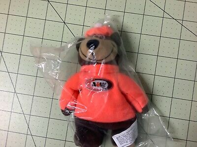 "A&W Root Beer Bear 6"" Orange Plush Beanie Alpha Kids 1997 in Unopened Plastic"