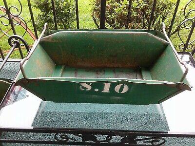 Vintage Industrial Nastier Metal Stacking Bins-chas. Doerke Co. Rossmoyne Ohio