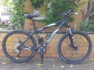 Giant Alias mountain bike, RockShox Dart 2 forks, disc brakes