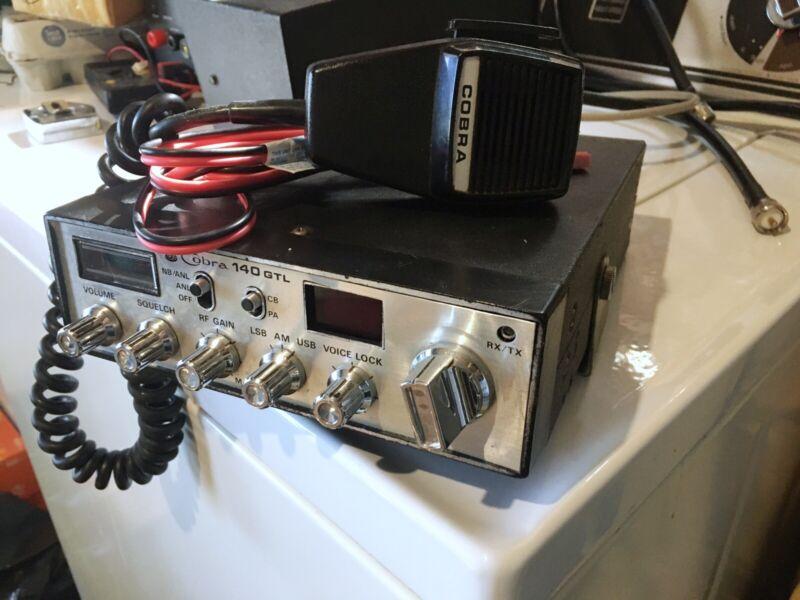 Cobra 140 GTL Vintage 40 Channel Mobile CB Radio AM SSB