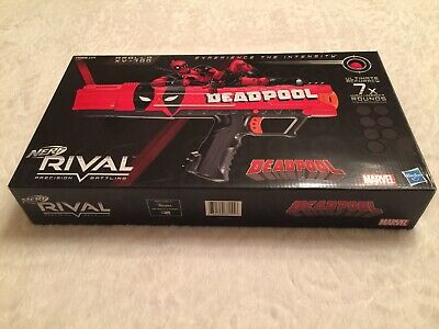 Nerf Rival Marvel Deadpool Apollo XV-700 Blaster Gun. LIMITED EDITION