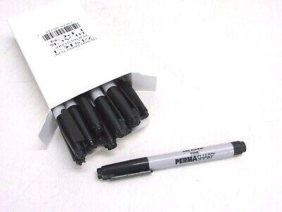 Lot Of 12 Drimark Perma Sharp Permanent Markers Black Fine Tip 745r-1