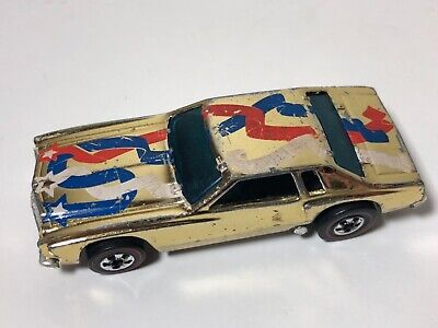 1977 Hot Wheels Redline Lowdown Chevy Monte Carlo Gold Chrome Flying Colors