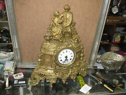 *Vintage Brass Mantel Clock Hermle FHS Clockworks perfect Running,condition./920