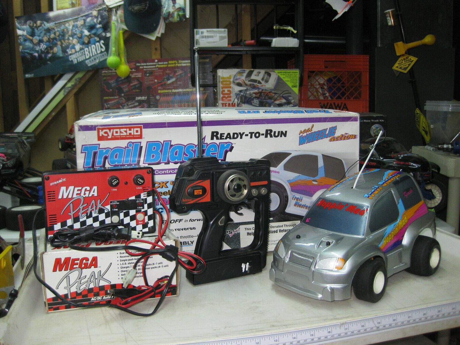Vintage Kyosho Trail Blaster EP Wheelie Car RARE Electric - $155.00