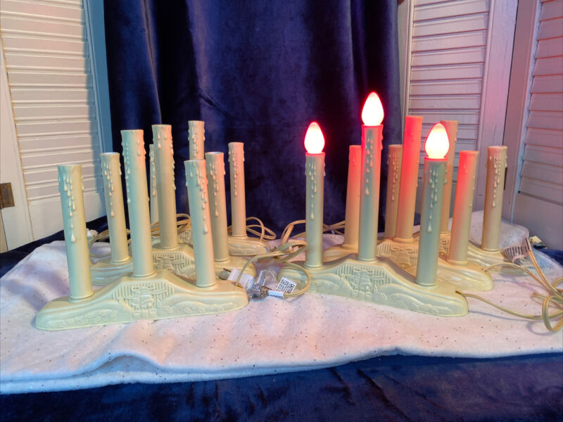 Vintage Style Christmas Candolier 3 Light Candles LOT of 6 Sets