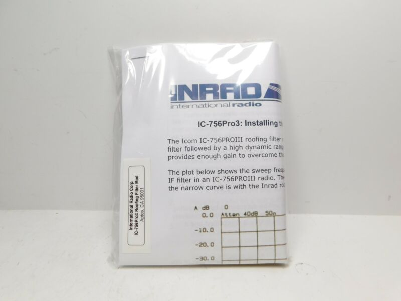 Inrad Roofing Filter Kit for Icom IC-756PROIII Ham Radio Transceiver (new)