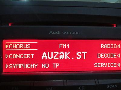 Audi Radio Security Code Unlock Decode RNS E Chorus Concert Symphony TT A3 A4 A6