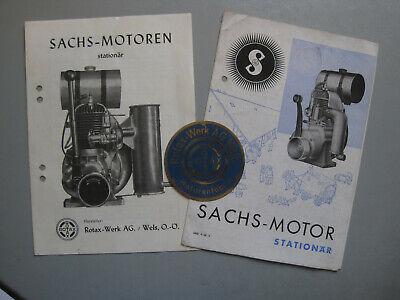 L819: Steyr Daimler Puch Sachs Motor Prospekt und Typenschild Neuwertig 1936