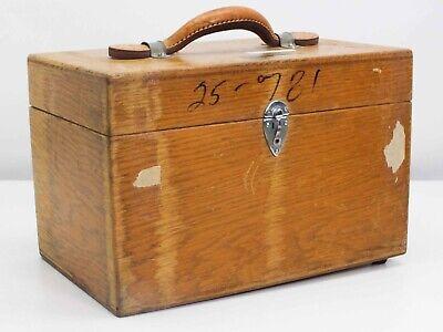 Leeds Northrup 8667 Galvanometer Millivolt Potentiometer - Vintage Wooden Case