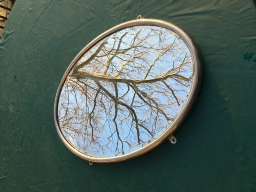 "Brasscrafters Nickel Plated Brass Oval Mirror 20""x14"""