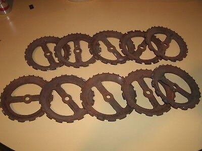 TEN JOHN DEERE Seed  Plates Y5495-B,Y2636B,Y2637B /Farm/ Steampunk/ Crafts,