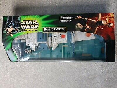Star Wars Power of the Jedi B-Wing Fighter and Sullustan Pilot Hasbro 2001