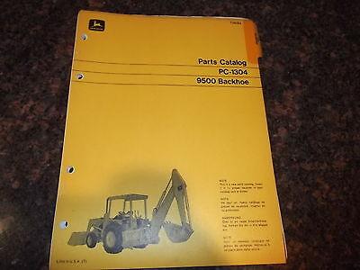 John Deere 9500 Backhoe Parts Manual Book Pc-1304