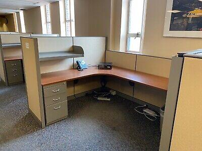 6 X 8 X 54h 42h Cubicles Workstations By Steelcase Kick W 3 Open Shelf