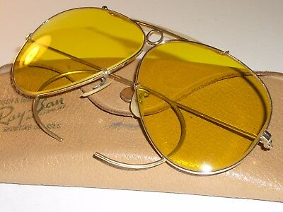 VINTAGE BAUSCH & LOMB RAY BAN 1/10 12K GF KALICHROME SHOOTING AVIATOR SUNGLASSES